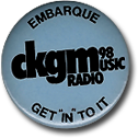 CKGM Embarque, CKGM Get In To It button