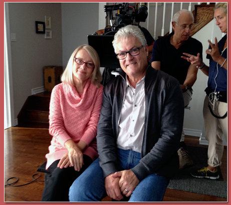 Marc Denis and Dawn Ford getting set to shoot an Air Transat TV commercial